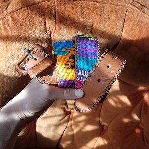 Vntg MX Leather Belt